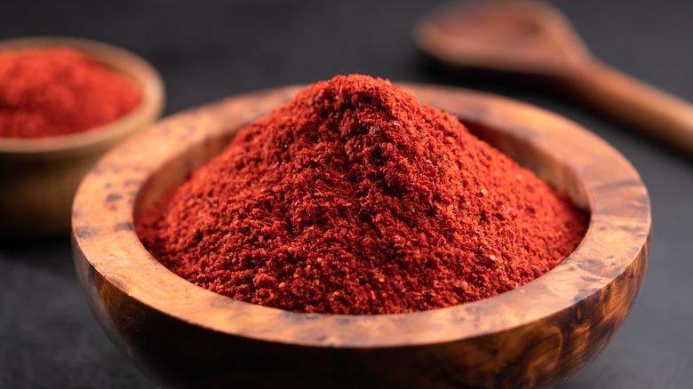 Bowl of paprika