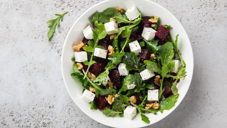 feta cheese, beet salad