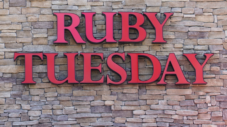 A Ruby Tuesday sign