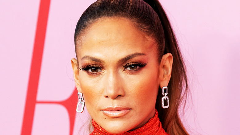 Jennifer Lopez in red gown