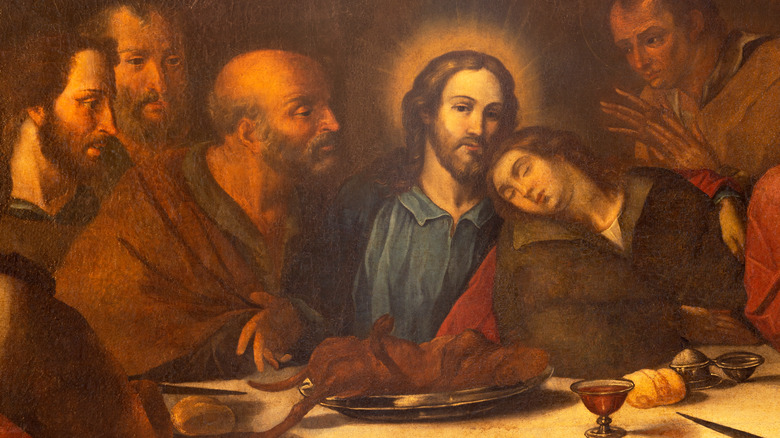 jesus last supper with disciples