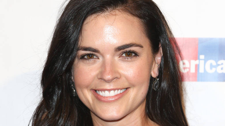 Katie Lee smiling at event