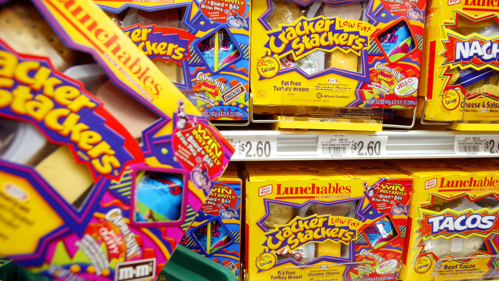 Lunchables boxes on store shelves