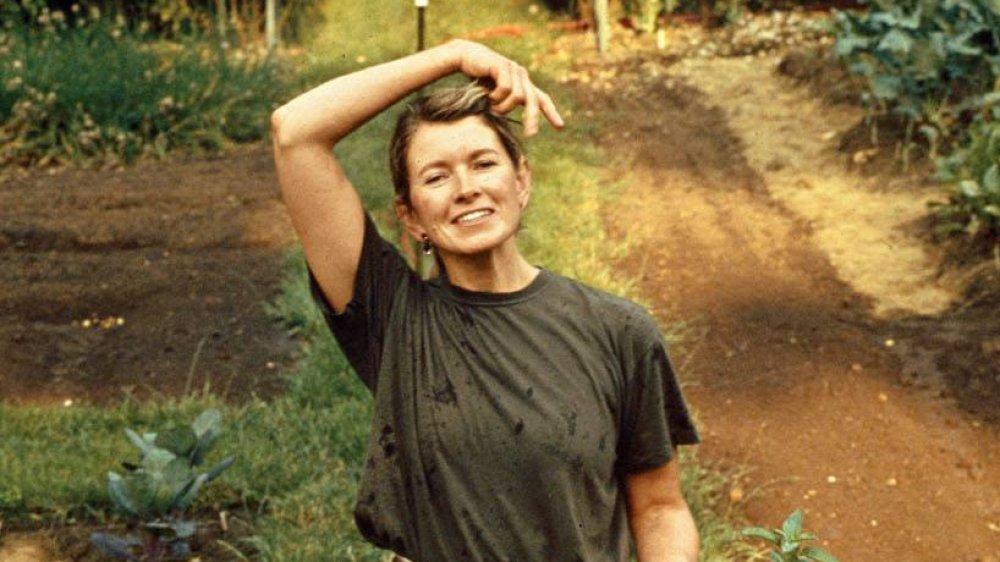 Martha Stewart in her garden in Westport Connecticut