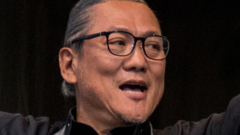 Iron Chef Morimoto on stage
