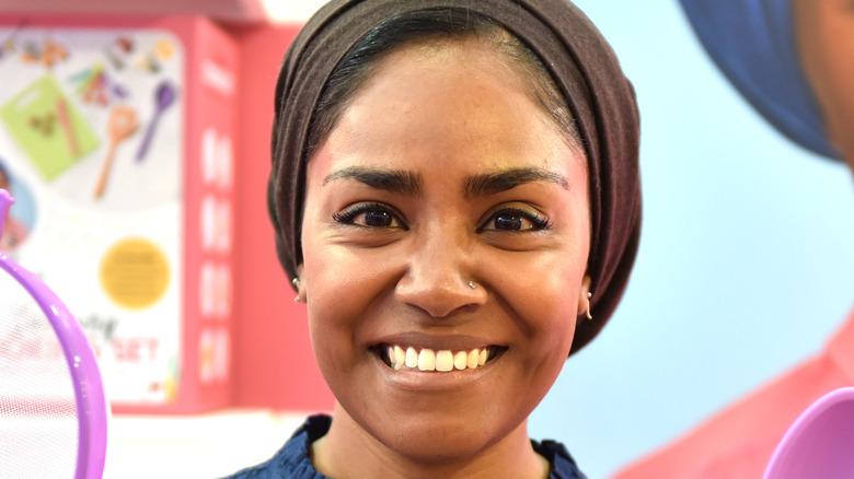 Nadiya Hussain smiles for camera