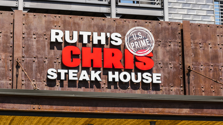 Ruth's Chris industrial sign