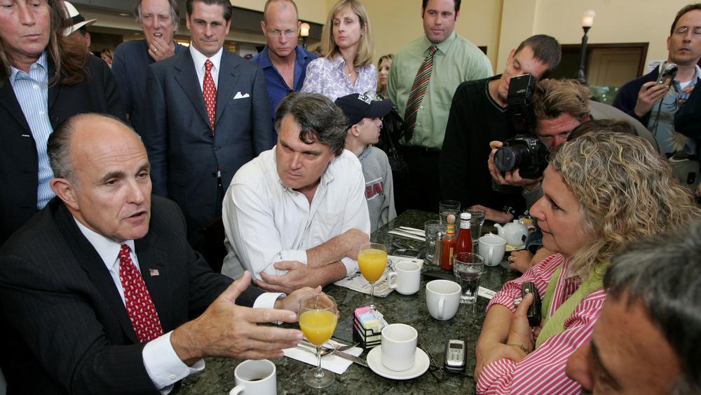 Rudy Giuliani at diner