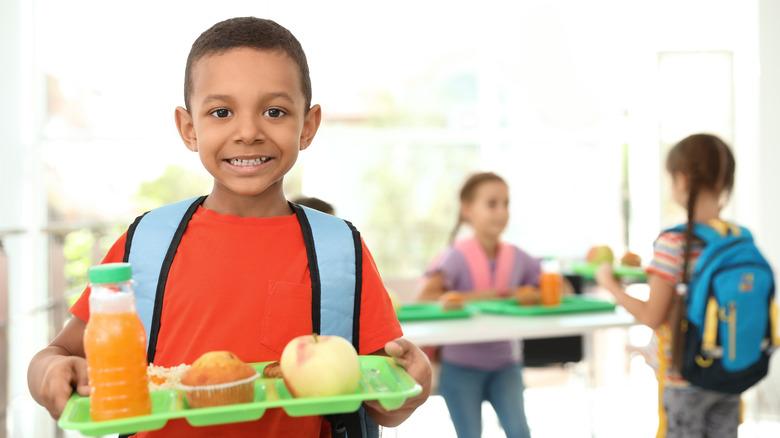 American school lunch