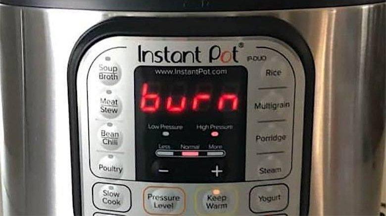 Instant Pot Burn Message