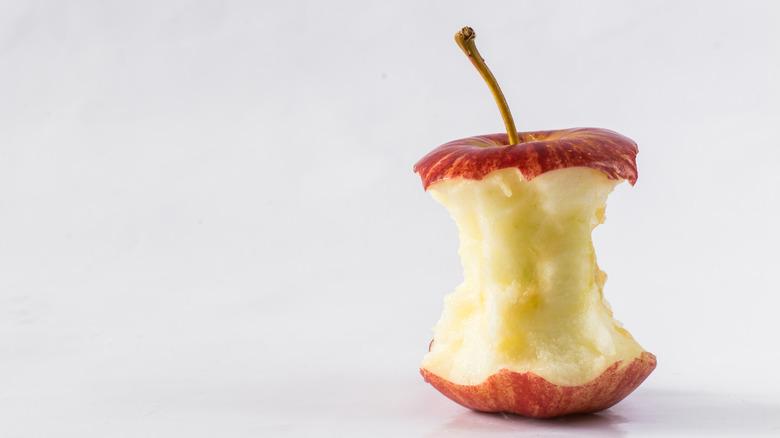 Leftover apple core