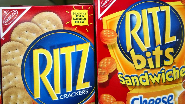 Ritz Crackers boxes