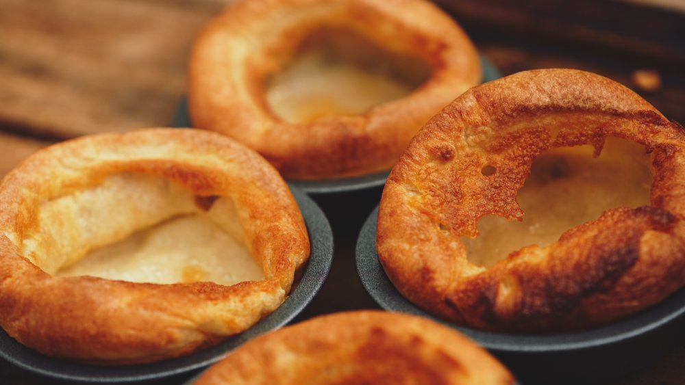 Yorkshire pudding fresh out of the oven