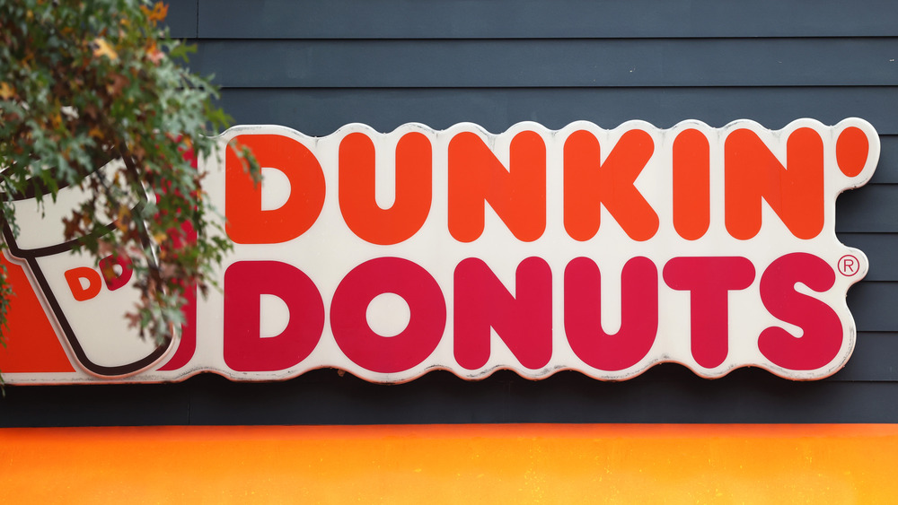 Dunkin' Donuts storefront sign