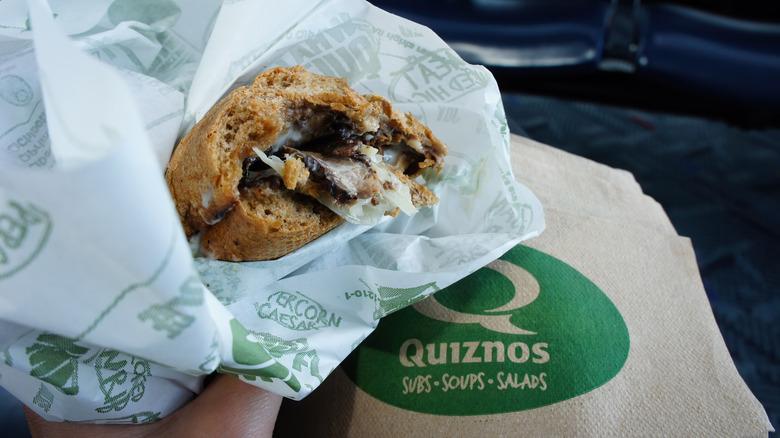 Quiznos sandwich
