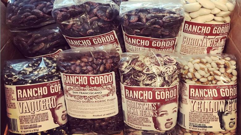 bags of Rancho Gordo beans
