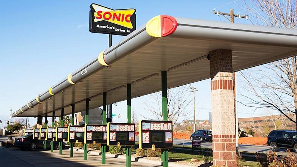 Sonic drive-in carhop