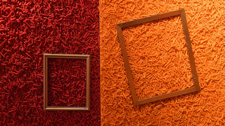 Cheetos museum display frames