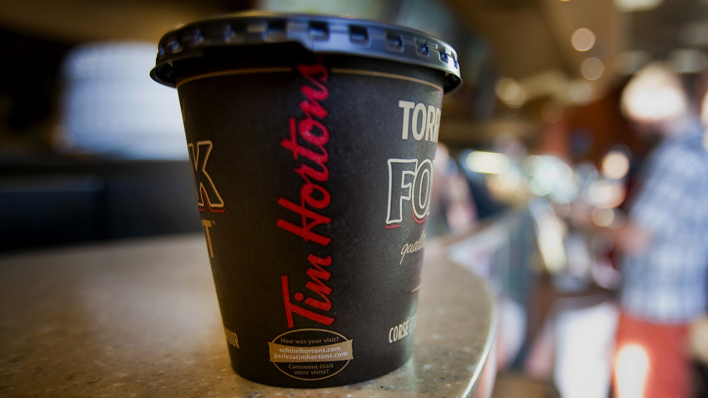 Tim Hortons coffee cup