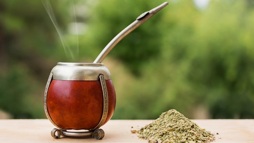 Yerba Mate glass and straw
