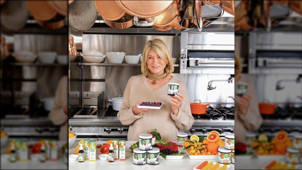 Martha Stewart with her new CBD line