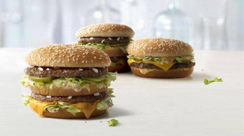 McDonald's 3 sizes of Big Macs