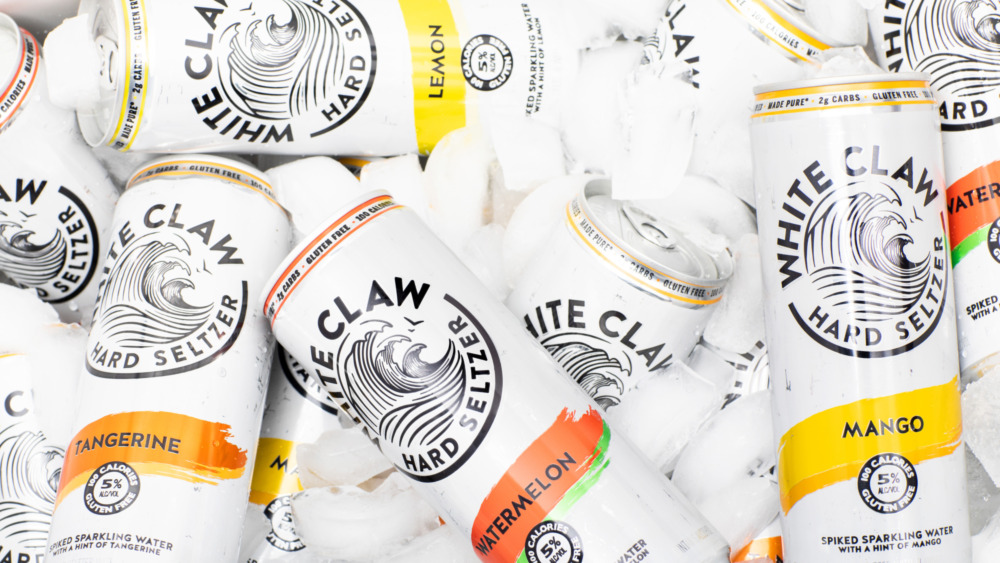 White Claw in various flavors, on ice