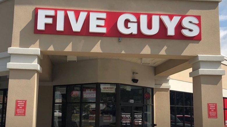 Five Guys outside
