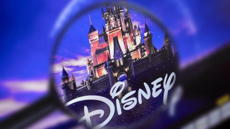 Disney Castle under magnifying glass