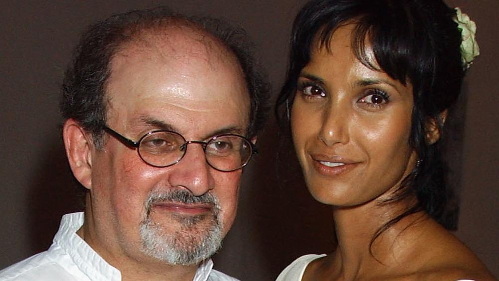Padma Lakshmi with Salman Rushdie