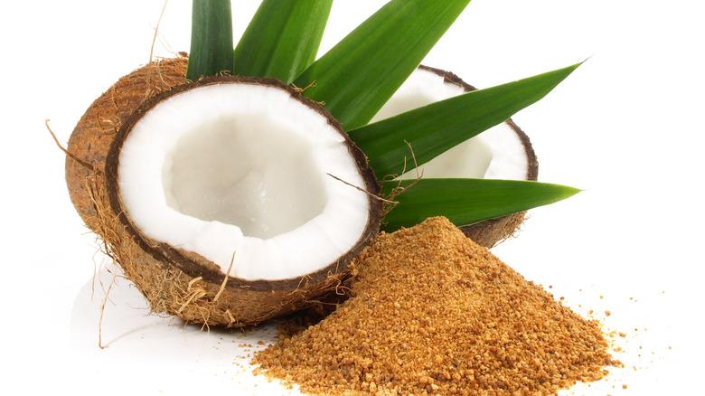 Coconut with coconut sugar