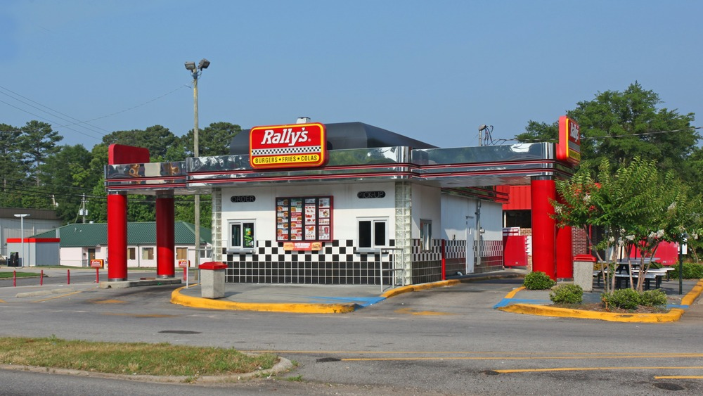 Rally's location and drive-thru