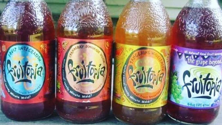 Glass bottles of Fruitopia