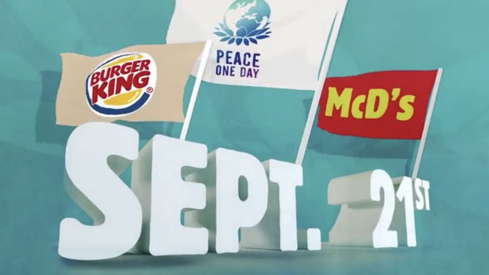 Burger King and McDonald's joining forces on Peace Day
