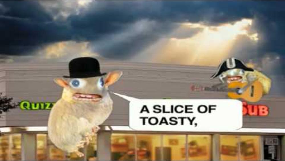 Quiznos spongemonkey mascot