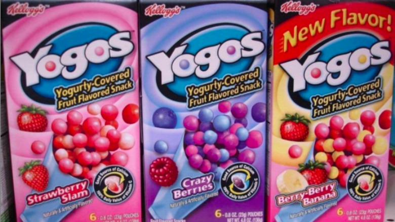 Three boxes of Yogos