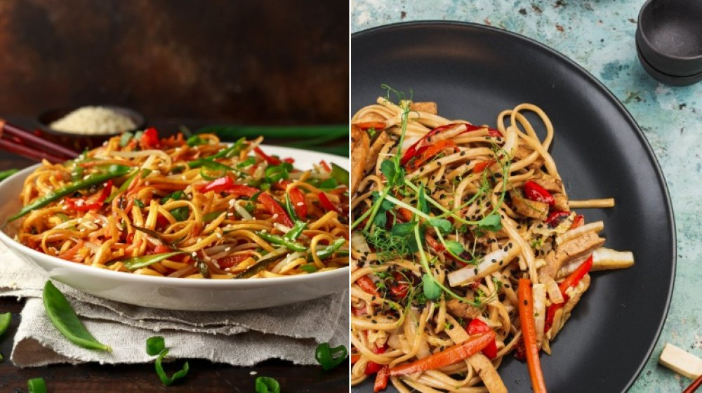 Chow mein and lo mein
