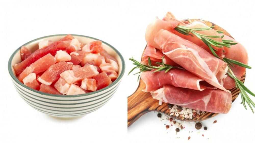 Pancetta and prosciutto