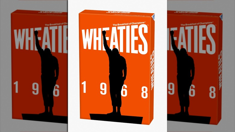Wheaties box with silhouette on it