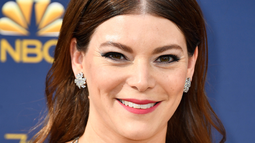 Chef Gail Simmons in pink lipstick