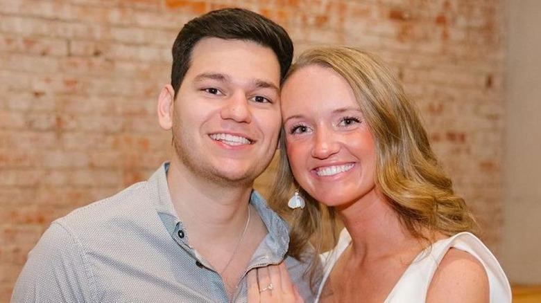 Alex Drummond and fiancé