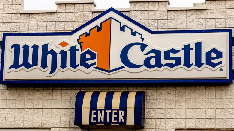 White Castle restaurant sign