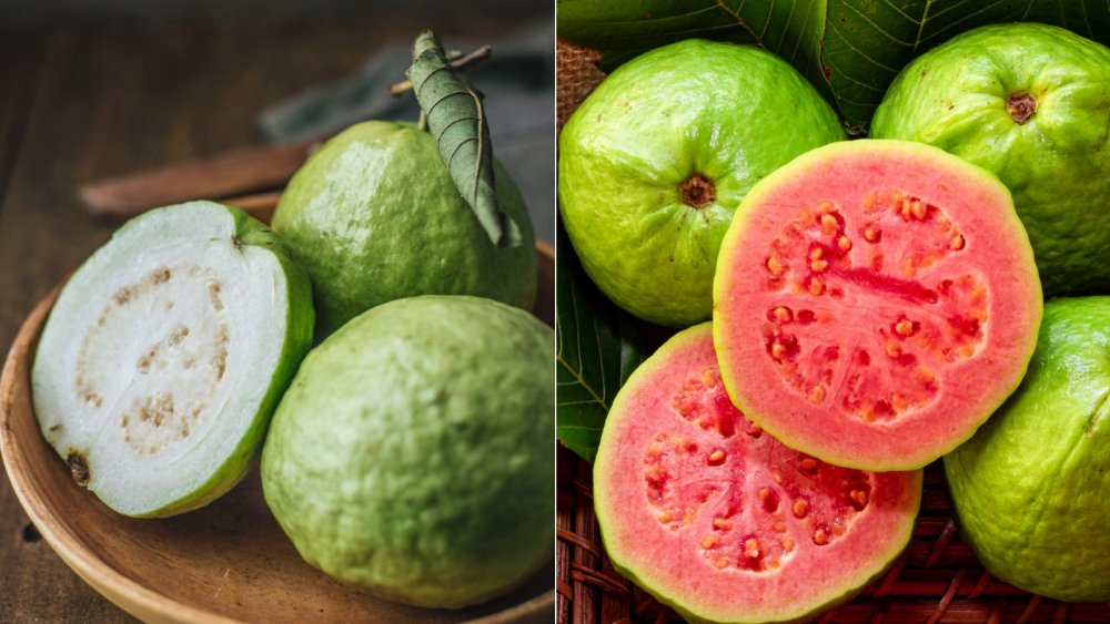 White guava and pink guava
