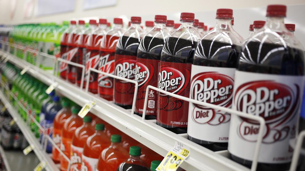 Dr Pepper on the store shelf