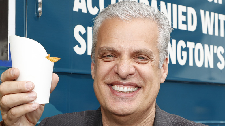 Éric Rupert holding fries