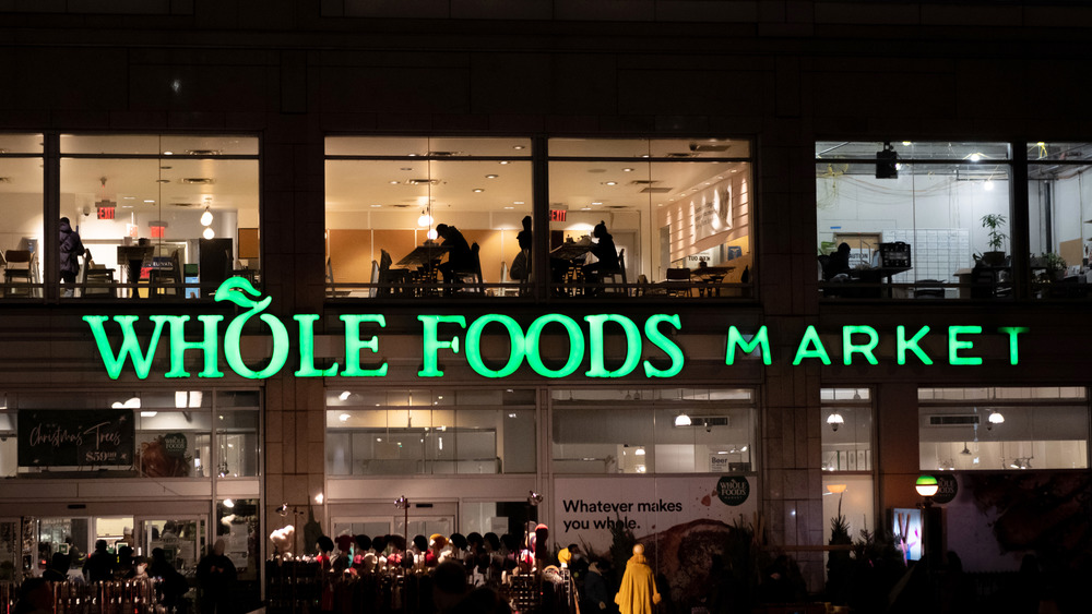 Whole Foods Market at night