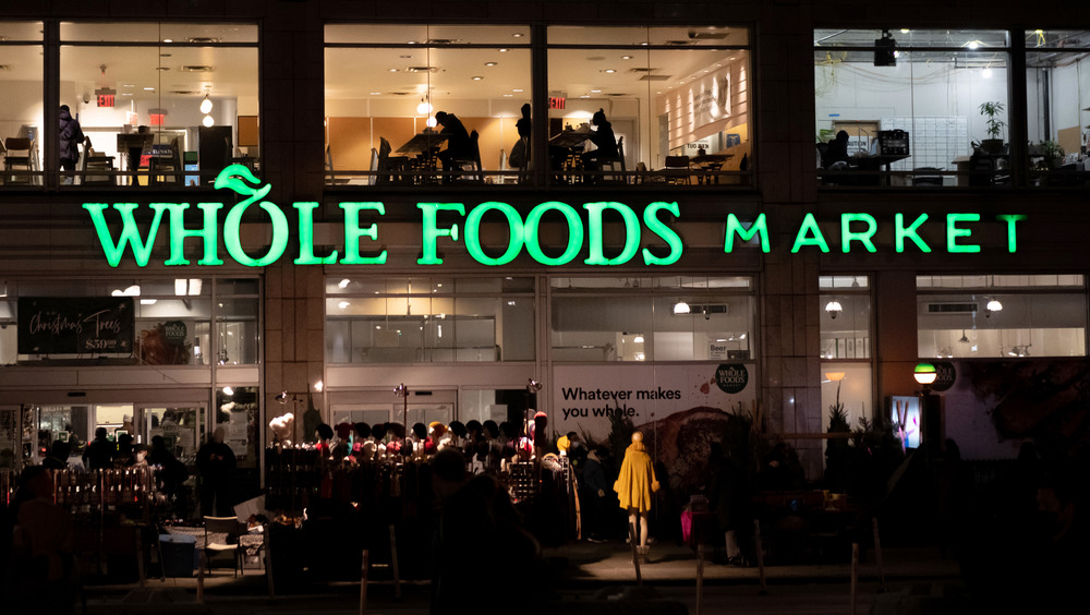 Whole Foods Market exterior at night