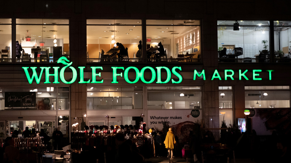 Whole Foods exterior at night
