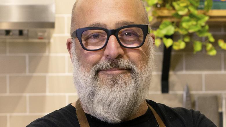 Andrew Zimmern in the kitchen