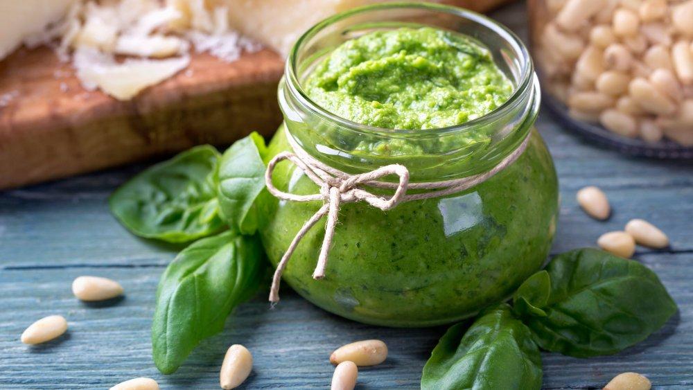 Pesto in a jar